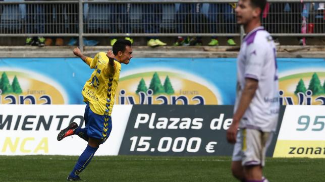 Álvaro García marcó el segundo gol del partido en su regreso.