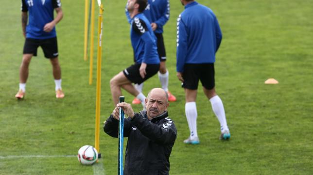 Claudio Barragán, en un entrenamiento en El Rosal.