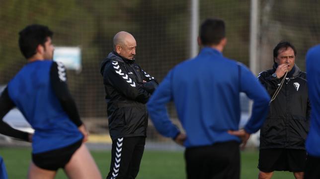 Claudio, en un entrenamiento en El Rosal.