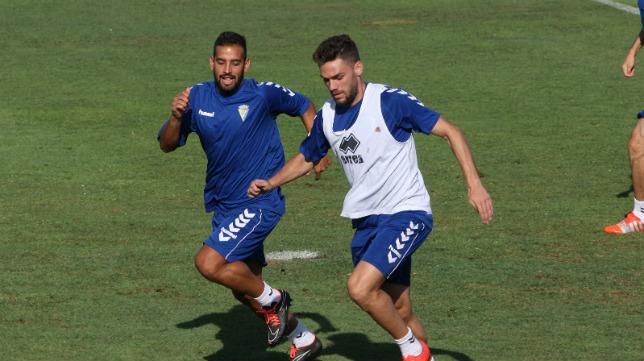 Lolo Plá, en un entrenamiento del Cádiz CF.
