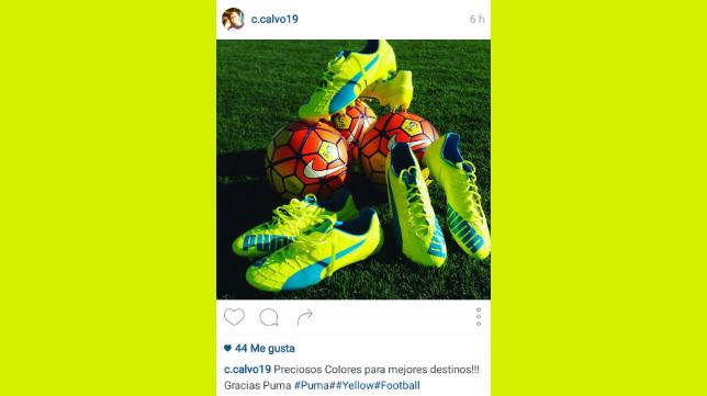 Imagen de la cuenta de Instagram de Carlos Calvo.