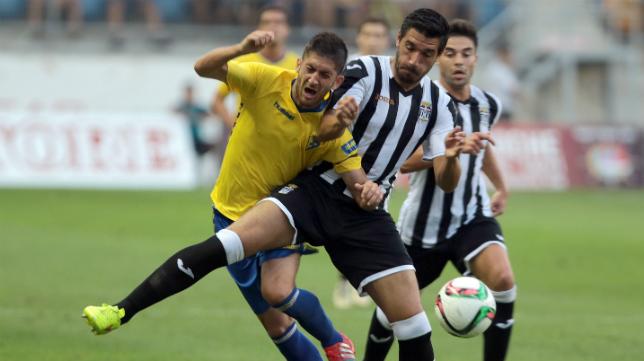 Imagen del Cádiz CF-Cartagena en la primera vuelta.