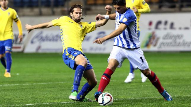 David Sánchez cuajó un buen partido ante el Recreativo de Huelva.