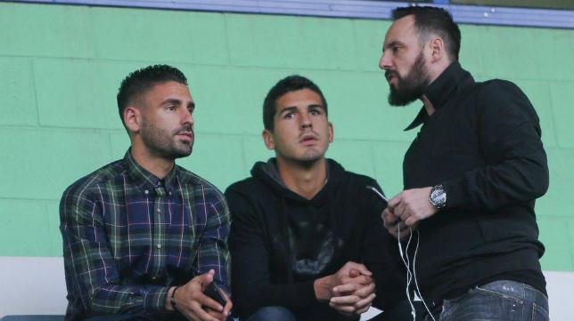 Garrido, junto a Leo Bermejo y Kike Márquez