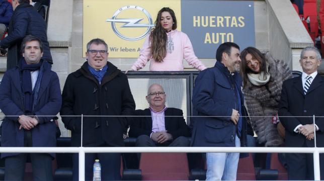 Manolo Vizcaíno, en el palco del estadio municipal de Cartagonova.