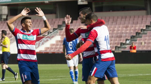 Nacho Navarrete en un partido con el Granada B