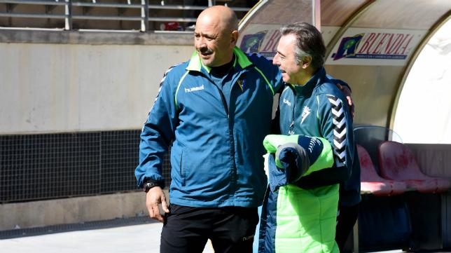 Claudio junto a Nono Fernández Cubero en Murcia