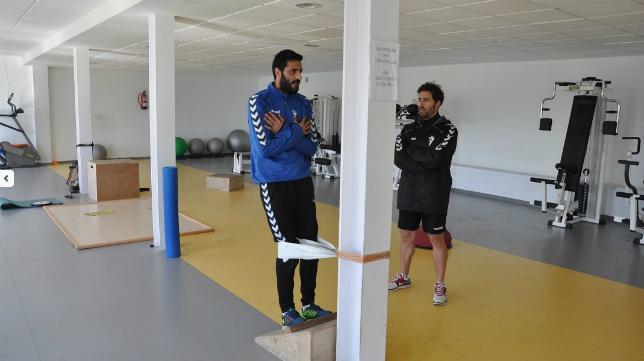 Dani Güiza junto al recuperador Jose Luis Costa (Foto: CCF)