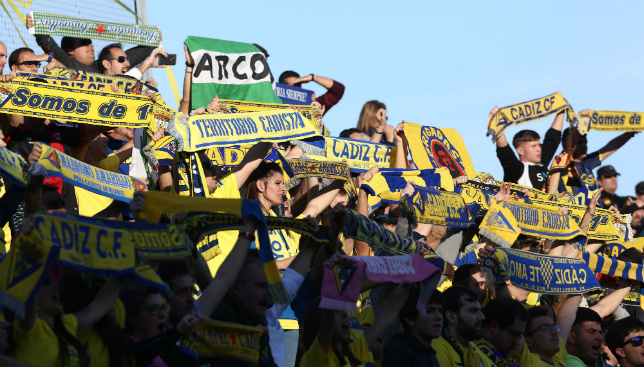 La afición del Cádiz CF, en Algeciras durante la pasada temporada
