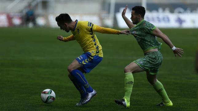 Imagen del Cádiz CF_La Hoya Lorca del pasado sábado.