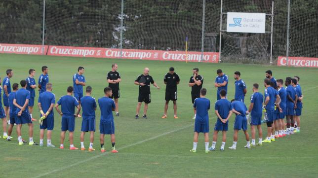 Aridane, única ausencia en el entrenamiento de hoy.