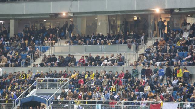 El palco de autoridades de Carranza en el día del partido de Copa ante el Real Madrid.