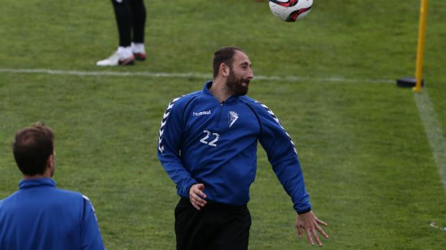 Juanjo, en un entrenamiento en El Rosal.