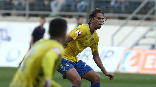 David Sánchez en un partido del Cádiz CF