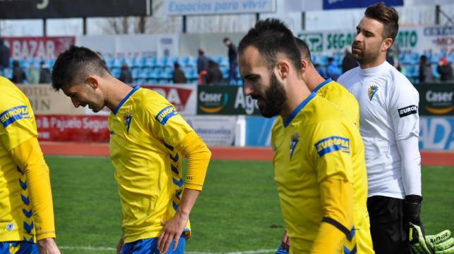 Machado, Andrés y Cifuentes tras el partido en Villanueva