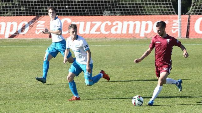 Xavi Carmona en el amistoso ante el Zenit