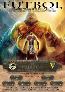 Imagen del cartel que anuncia el próximo duelo provincial entre Balona y Cádiz CF