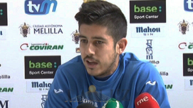 Dani Barrio, portero del Melilla