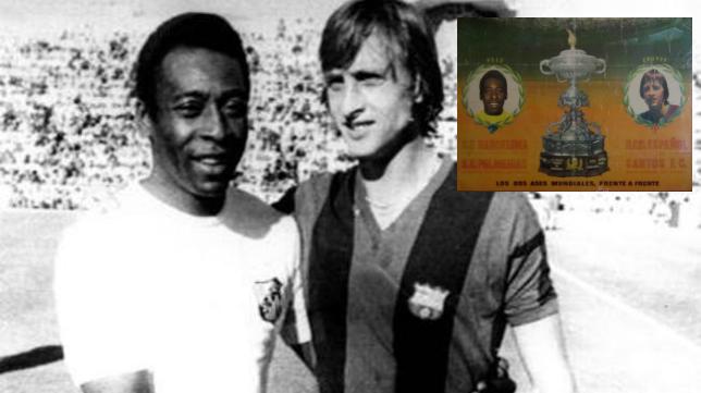 Pelé y Cruyff se enfrentaron en el Trofeo Carranza de 1974.