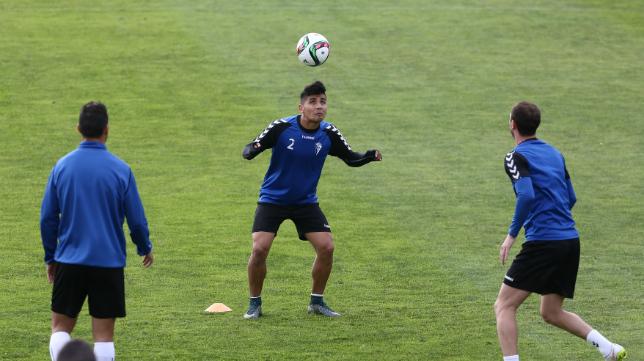 Luis Pavez se ejercitado en la Ciudad Deportiva del Rosal.