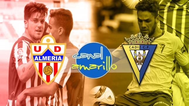 Almería B y Cádiz CF se ven las caras en el Estadio de los Juegos del Mediterráneo