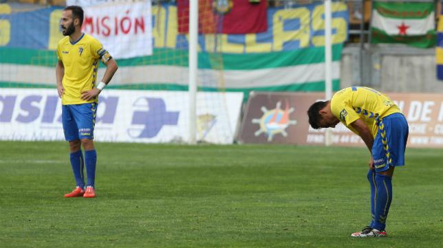 El Cádiz CF nota el cansancio sobre todo en la segunda mitad del partido.