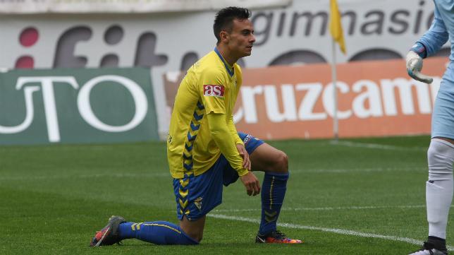 Álvaro, en el último partido ante el Sevilla Atlético.