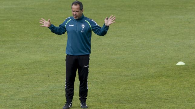 Álvaro Cervera, en un entrenamiento.
