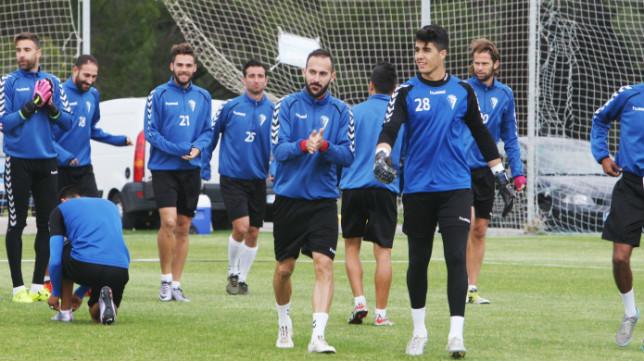 Andrés Sánchez, en un momento del primer entrenamiento de Cervera el pasado martes.