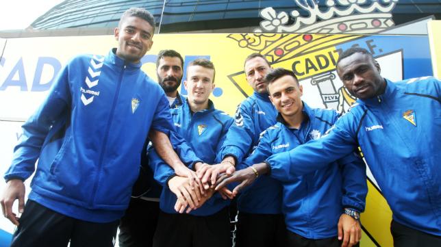 Los futbolistas del Cádiz CF se conjuran antes de viajar a Jumilla.