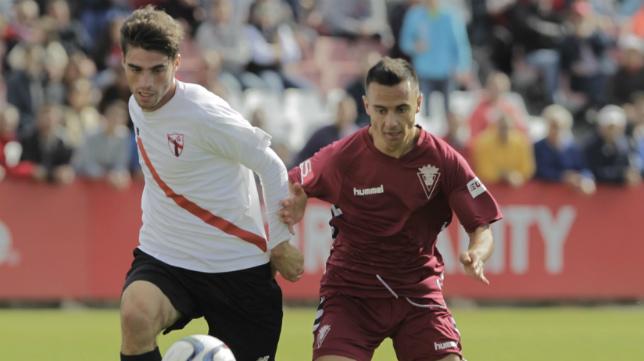 Sevilla Atlético y Cádiz CF empataron (1-1) en el encuentro de ida.