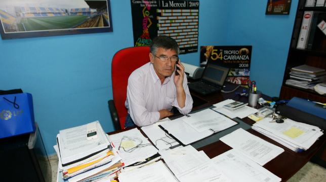 Julio Peguero en su etapa como director deportivo del Cádiz CF