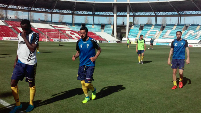 Isaac Nana, Dani Güiza y Juanjo fueron titulares hoy.