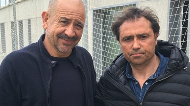 Claudio y Alfredo, en el día de su despedida.
