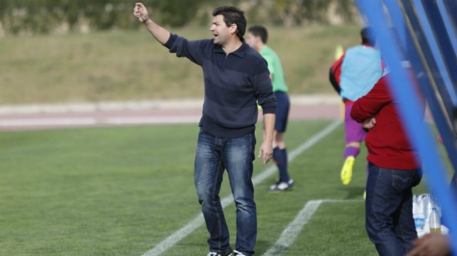 Fernando Estévez, entrenador del Almería B