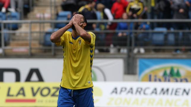 Güiza marcó el gol del Cádiz CF ante el Sevilla Atlético