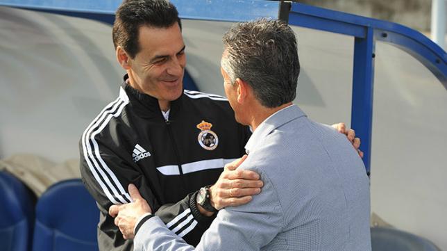 Manolo Ruíz junto a Alejandro Ceballos (Huelva 24)