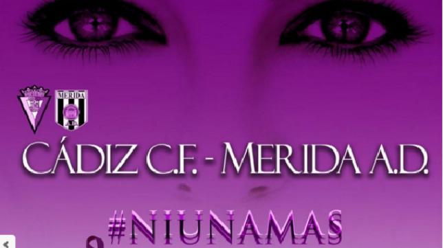 Cartel del Cádiz CF - Mérida en Carranza