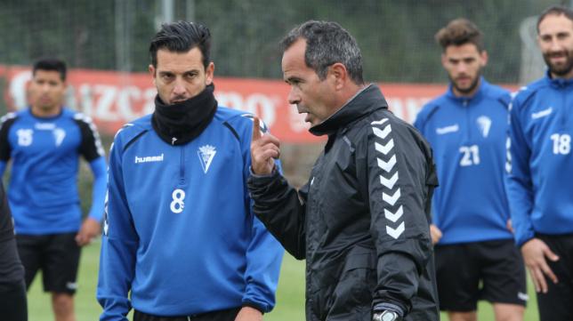 Sergio Mantecón y Álvaro Cervera, en un entrenamiento.
