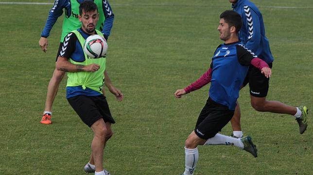 Carlos Calvo y Machado en un entrenamiento