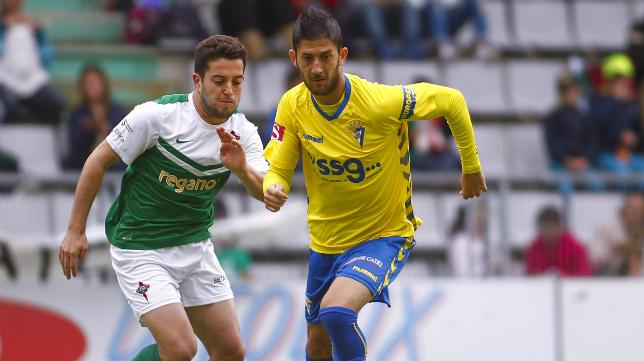 Machado ante el Ferrol en el pasado 'play off'