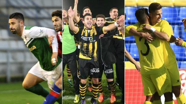 Los tres posibles rivales del Cádiz CF.