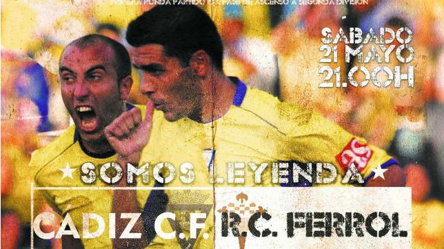 Cartel del Racing de Ferrol-Cádiz CF