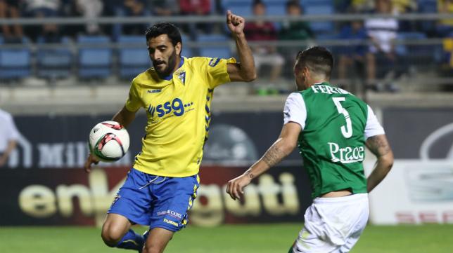 Dani Güiza entró en la segunda parte pero no tuvo ocasiones para desempatar la contienda ante el Racing de Ferrol.