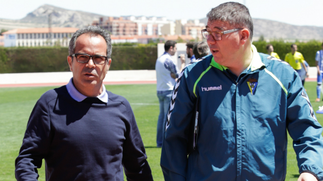 Javier Manzano, junto a Álvaro Cervera en Jumilla.