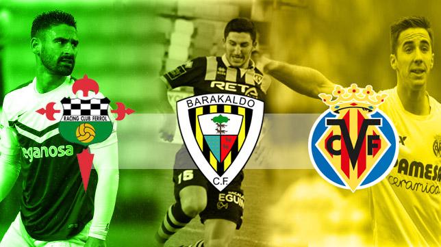 Racing de Ferrol, Barakaldo y Villarreal B pueden ser rivales del Cádiz