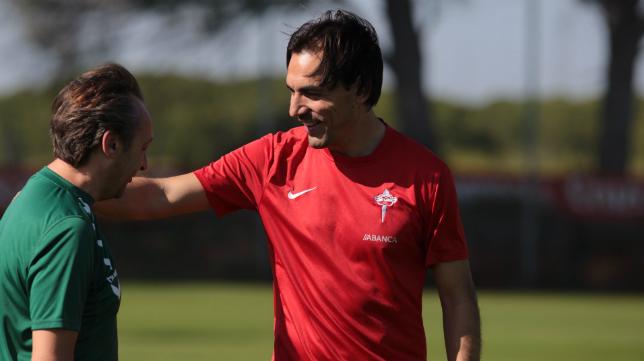 Miguel Ángel Tena, entrenador del Racing de Ferrol.