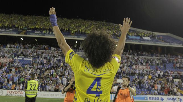 Aridane saluda a la afición cadista en el Rico Pérez de Alicante