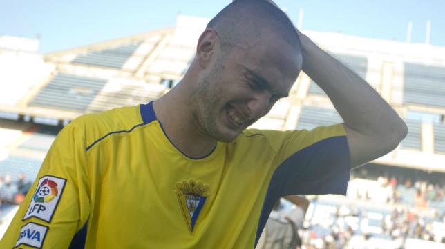Dani sufrió en sus carnes el descenso del Cádiz CF en el Rico Pérez