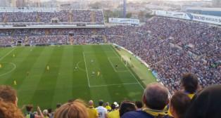 Momento previo al gol de Dani Güiza en Alicante